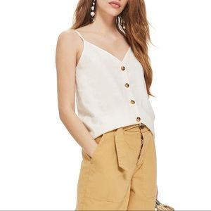 TOPSHOP White Button Through Camisole